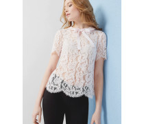 Bow detail lace top