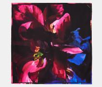 Seidenschal mit Impressionist Bloom-Print