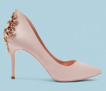 Satin-pumps Mit Detail An Der Ferse
