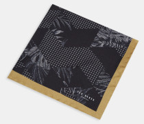 Einstecktuch aus Seide mit Ton-In-Ton Jacquard-Muster