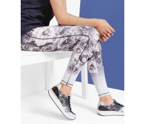 Lange Leggings mit Blue Bloom-Print