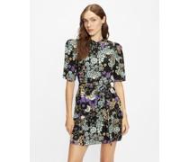 Puff Shoulder Floral Mini Dress