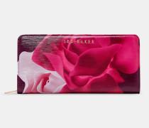 Leder-portemonnaie Mit Porcelain Rose-print