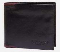 Zweifarbiges Leder-Portemonnaie