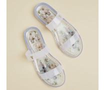 Vanilla Double Strap Jelly Sandals
