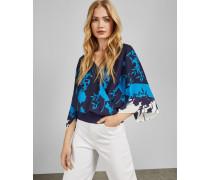 Wickeloberteil mit Kimono-ärmeln und Bluebell-Print