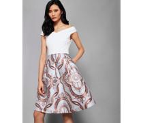 Jacquard-kleid Mit Versailles-print