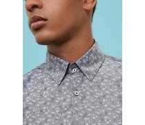 Hemd aus Baumwoll-Jacquard mit Blattmuster