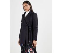 Wool-Cashmere Wrap Coat