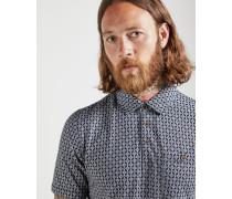 Polohemd aus Baumwolle mit Print
