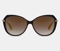 Oversized-sonnenbrille Mit Metalldetail