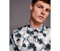 Baumwollhemd mit Dschungel-Print