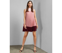 Hochgeschlossenes Plissee-Kleid mit Ombré-Effekt