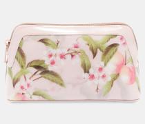 Makeup-tasche Mit Peach Blossom-print