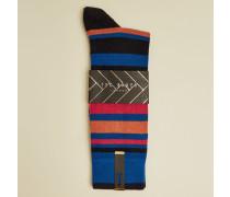 Irregular Stripe Cotton Blend Socks