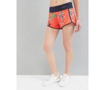 Running-Shorts mit Tropical Oasis-Print