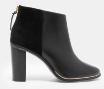 Ankle Boots Aus Leder Mit Zip-detail