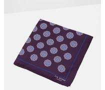 Einstecktuch mit Geo-Blumen-Print
