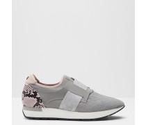 Slip-On Sneakers mit geprägtem Wildleder