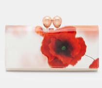 Leder-portemonnaie Mit Playful Poppy-print