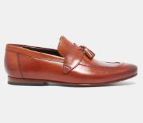 Leder-Loafer mit Troddeln