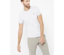 Gestreiftes T-Shirt mit Kontrasten an den Ärmeln