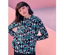 Seidenhemd Mit Kranich-print