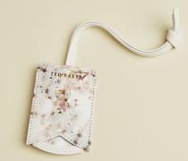 Vanilla Leather Luggage Tag