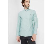 Strukturiertes Baumwollhemd