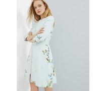 Kragenloser Mantel Mit Spring Meadow-print