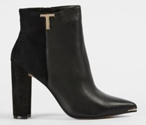 T Detail Leather Boot