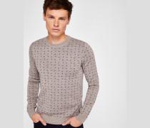 Jacquard-pullover Aus Wollgemisch