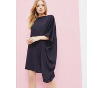 Asymmetrisch drapiertes Tunika-Kleid