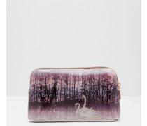 Kosmetiktasche mit Sparkling Swan-Print