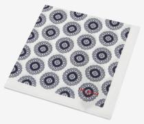 Einstecktuch aus Baumwolle mit Geo-Print
