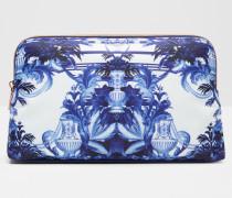 Große Kosmetiktasche mit Persian Blue-Print