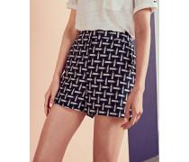 Shorts mit Bleistift-Print
