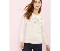 Bestickter Pullover Mit Opulent Orient-print