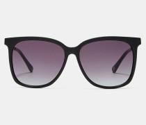 Metallic Detail Square Sunglasses