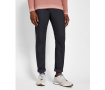 Tapered-fit Jeans Mit Bedrucktem Saum