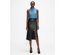 Leather A-Symmetric Wrap Skirt