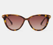 Metallic Detail Cat Eye Sunglasses