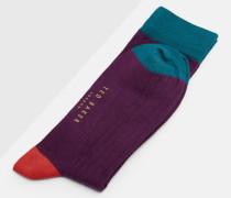 Blockfarben-Socken