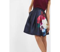 Weiter Faltenrock Mit Blushing Bouquet-print