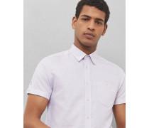Strukturiertes Hemd aus Baumwoll-Leinen-Mix