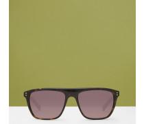 Viereckige Sonnenbrille mit Geo-Print