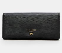 Leder-portemonnaie Mit Geschwungener Schleife