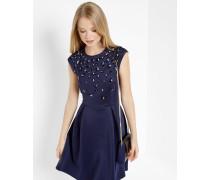 Skater-Kleid mit floralen Schmuckdetails