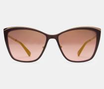Katzenaugen-sonnenbrille Mit Metalldetail