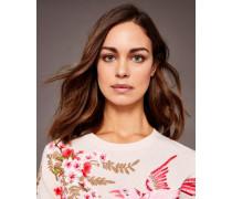 Pullover Mit Peach Blossom-stickerei